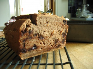 Gluten Free Banana Chocolate Bread